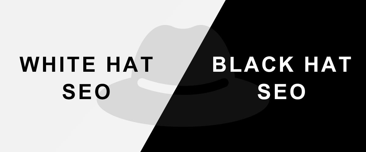 ホワイトハットSEOとブラックハットSEOのイメージ画像